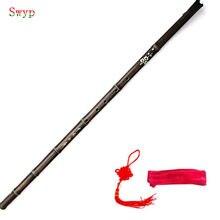 Flauta de bambu chinesa xiao vertical vento instrumentos musicais 6/8 buraco flauta para iniciantes tradicional roxo bambu dizi g/f chave