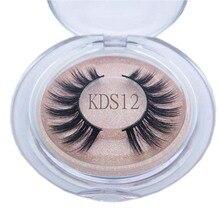 Buzzme KDS12 100% hand made 3D faux mink lashes natural long eyelashes makeup false eyelashes
