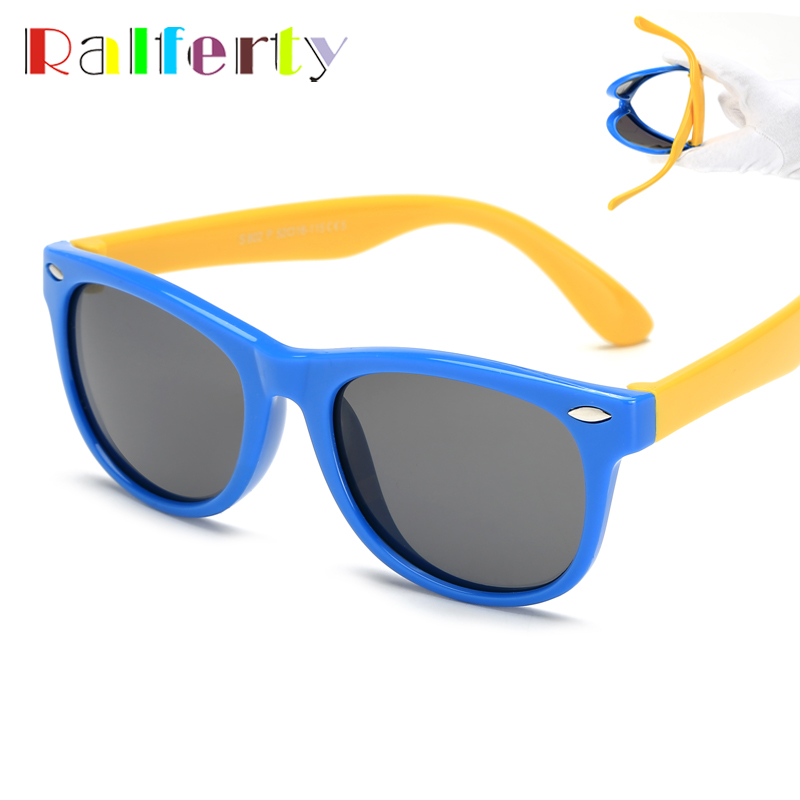 a91b170a3aa3a Ralferty TOP Óculos Polarizados Crianças Meninos Meninas Bebê Infantil  Óculos de Sol 100% UV400 Shades
