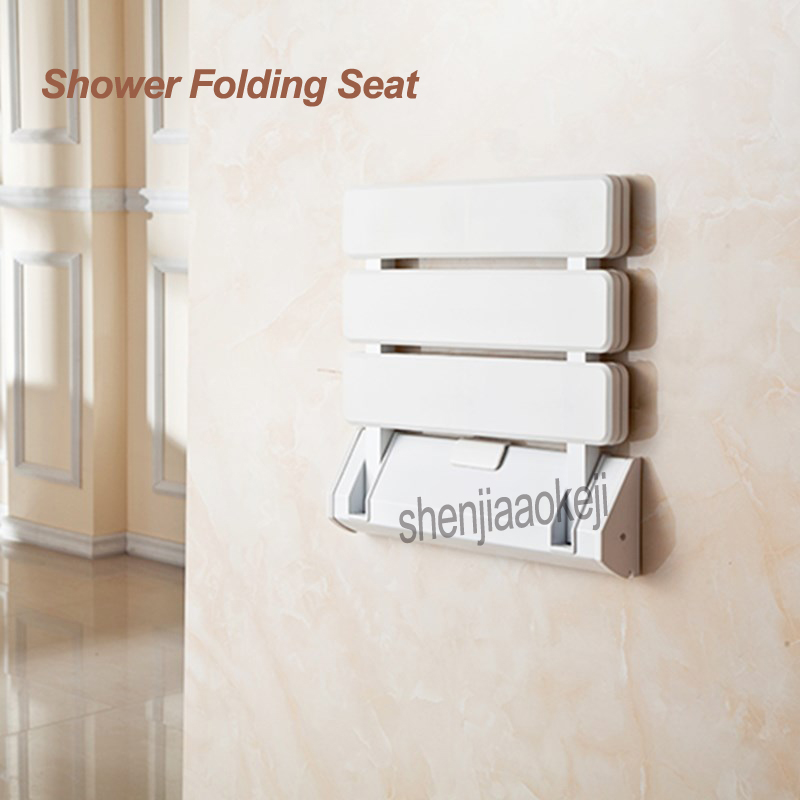 Shower Seat Bath Stool Wall Mounted Chair Toilet Aluminum Folding Shower Chair Bathroom Wall Chair Home Changing Shoe Bench