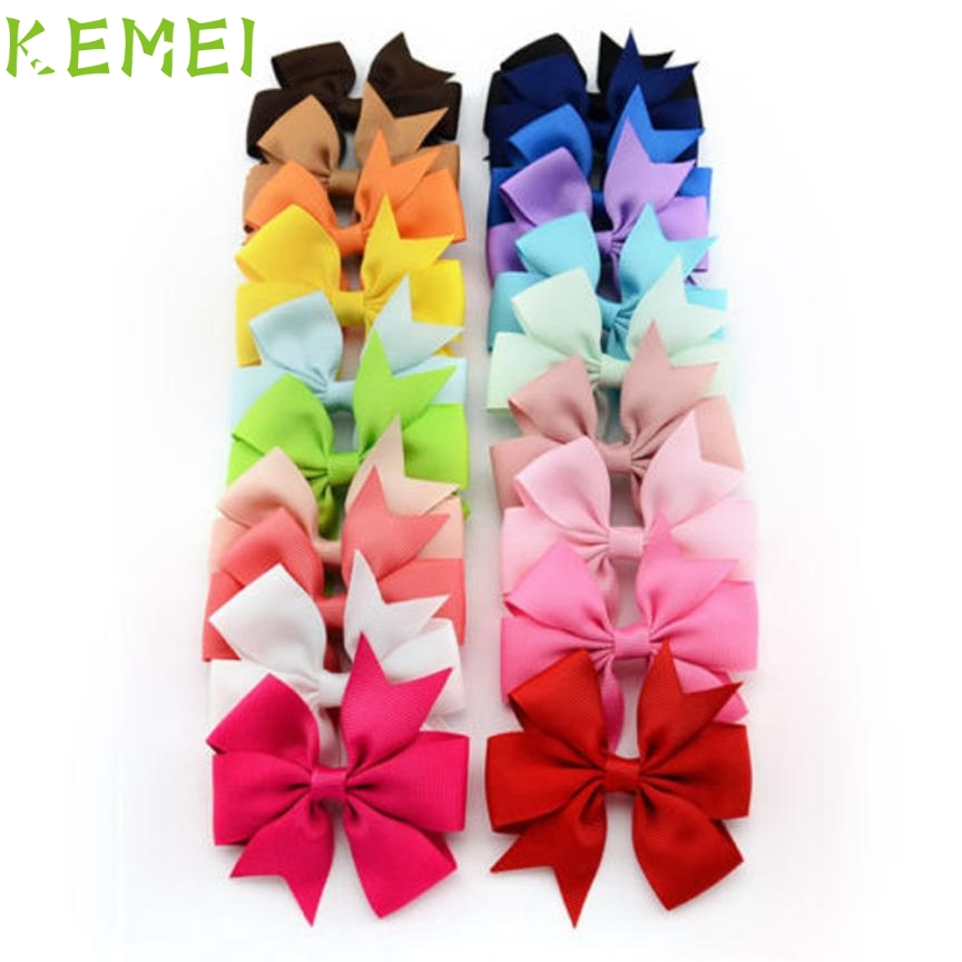 Hot Best Deal Beauty Girl 20PCS Girl Baby Bow Hair Clip Grosgrain Ribbon Boutique Bowknot Hairpin J12X10 все цены