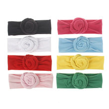 Children jewelry male and female knot elastic hair with cute hair accessories flowers hair bands(China)