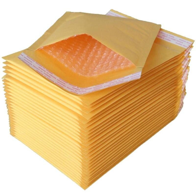 18*23CM 50Pcs Kraft Paper Foam Fill Envelope Poly Mailer Kraft Paper Bubble Packaging Envelope Mail Bag Thick Bag Lightweight