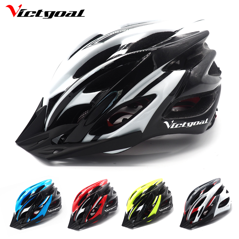 VICTGOAL Bicycle Helmet Men Women Cycling Helmet Sun Visor Bike Helmets Brim Shield MTB Helmets Road Bike Integrally Molded