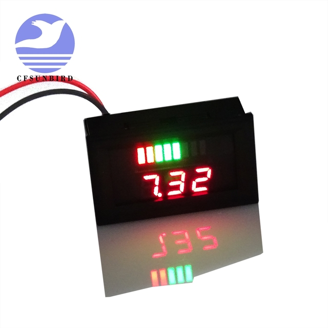 60v acid lead battery indicator charge capacity voltage lead acid60v acid lead battery indicator charge capacity voltage lead acid battery red led dual digital display electric car battery