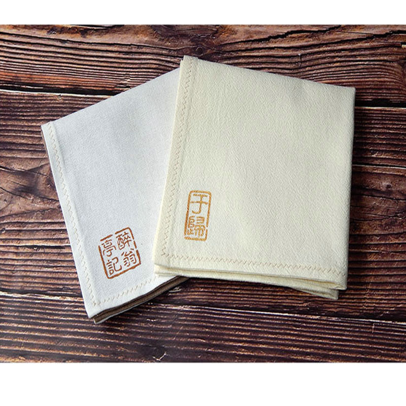 Name Custom Small Book Seal White Chinese Style Antique Cotton Men's Handkerchief Female Handcuffs Gift