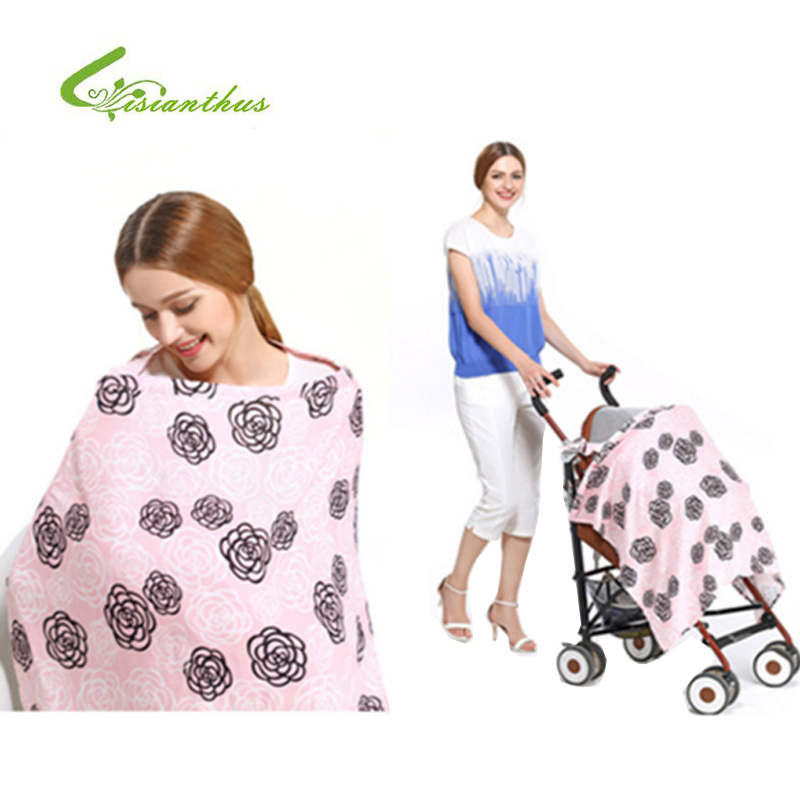 11 Colors Breast Feeding Nursing Covers Baby Infant Breathable Nursing Apron Cotton Muslin Nursing Cloth Cape Feeding Cover