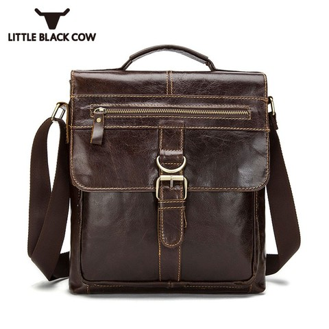 Designer Brand Messenger Bags Vintage Genuine Leather Bags For Men Business Office Handbags Casual Cow Leather Shoulder Bags Pakistan