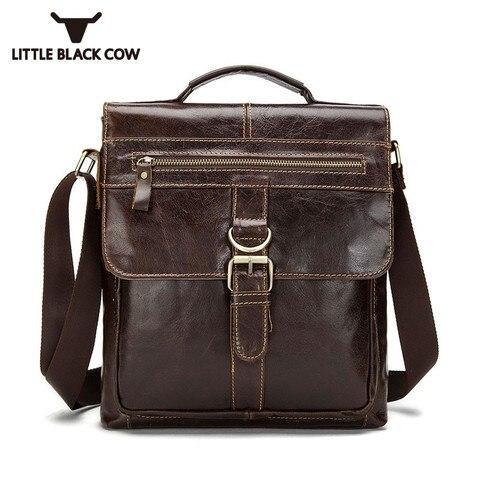 Designer Brand Messenger Bags Vintage Genuine Leather Bags For Men Business Office Handbags Casual Cow Leather Shoulder Bags Pakistan