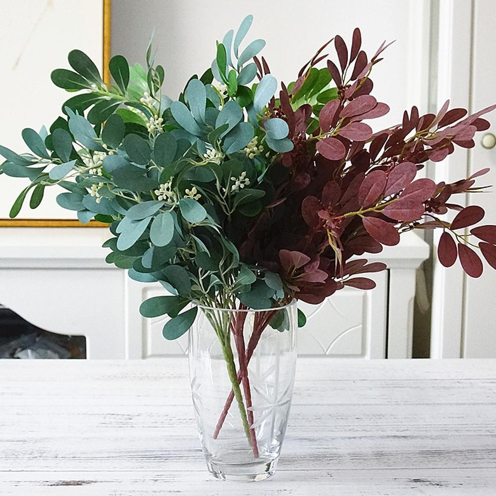 1pc Artificial Jujube Leaf Foliage Plant Photograph Prop
