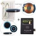 SSRIVER For Samsung Galaxy Note 2 Qi Wireless Charger Pad + Wireless Charging Receiver Tag wireless Charge Stick