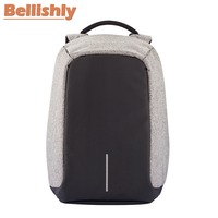 Bellishly Men's Bobby Original Anti Theft Backpack Male Montmartre USB Charging Shoulders School Bags Women Computer Travel Bag