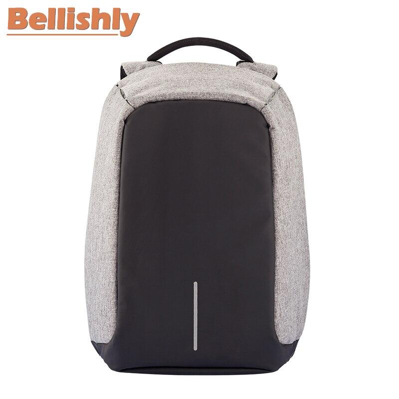 Bobby Usb black Bellishly Taschen Reisetasche Original Gray Montmartre Männlichen Computer Lade diebstahl Frauen Schultern Anti red Männer Schule Rucksack 48qp8T5