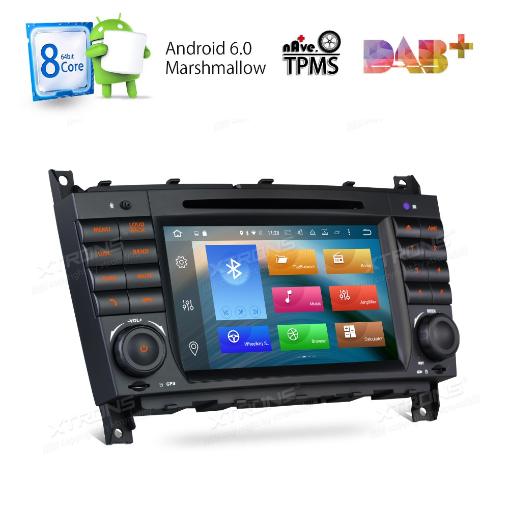 7&#8243; Octa-Core Android 6.0 OS <font><b>Car</b></font> DVD for Mercedes-Benz CLK-Class W209 2005-2006 &#038; C-Class W203 2004-2007 with 2GB RAM 32GB ROM
