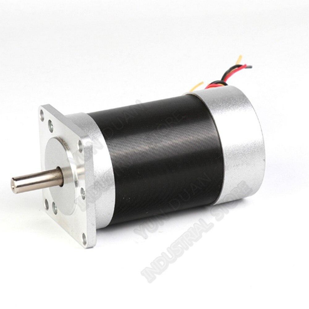 69 W 100 W DC24V Motore Brushless Nema23 57 millimetri Ad Alta Velocità di 3000 rpm Sensore di Hall 3PH 8 millimetri Albero BLDC per il Medico Ascensore Industria