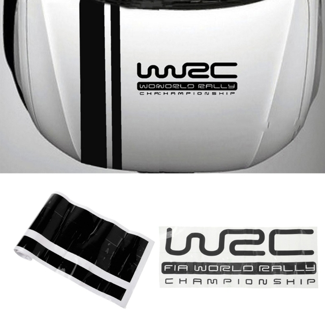 Personalización WRC rayas coche cubre vinilo carreras deportes calcomanía cabeza coche pegatina VW Cruze Renault Accesorios