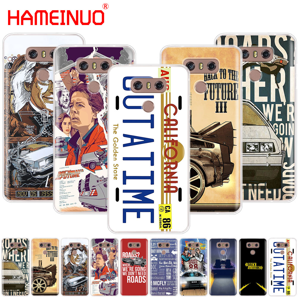 HAMEINUO Back to the Future case phone cover for LG G7 Q6 G6 MINI G5 K10 K4 K8 2017 2016 X POWER 2 V20 V30 2018