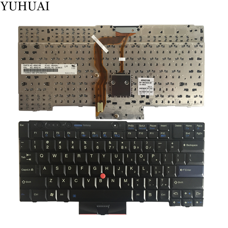 For Lenovo ThinkPad  laptop keyboard T400S T410S T410 T410I T510 W510 T420 T420S W520 W510 X220T X220s X220i US new laptop keyboard for lenovo thinkpad t410 t420 x220 t510 t510i t520 t520i w510 w520 series laptop keyboard us layout