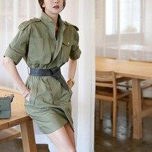 2018 Elegant Women Solid Color Belt Pencil Dress  Casual Pocket Bodycon Summer Dresses