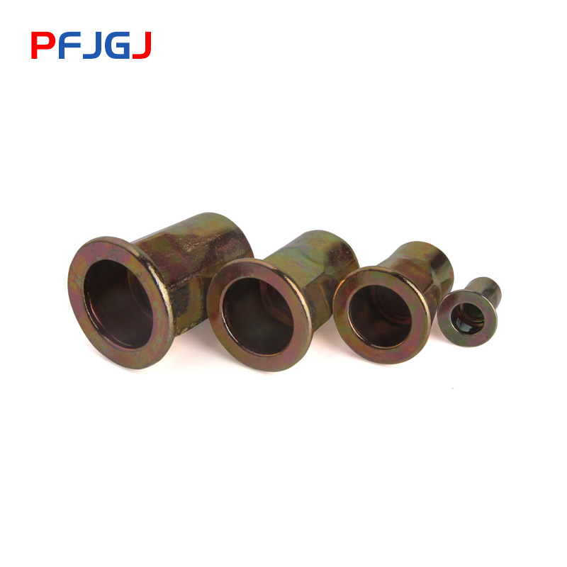 Peng Fa M4 M12 Colored galvanized flat head semi hexagonal riveting nut hexagonal riveting nut hexagonal pulling cap in Nuts from Home Improvement