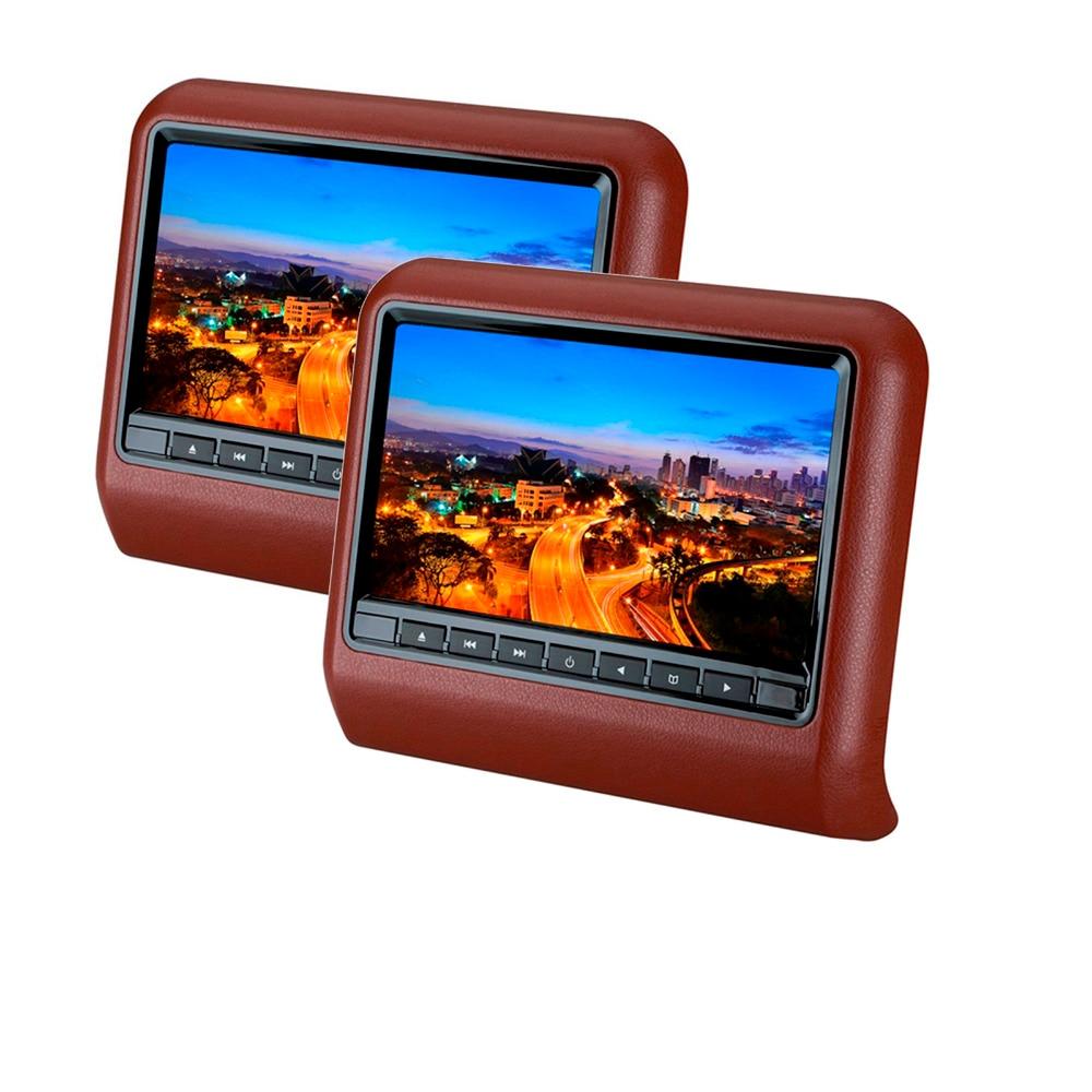 9 дюймов HD светодиодный цифровой экран 800x480 подголовник автомобиля монитор с слот-в DVD ИК FM беспроводной игры USB памяти SD