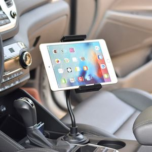 "Image 2 - Universal Gooseneck Adjustable Car Cup Holder Mount Cradle for iphone iPad Samsung Xiaomi Huawei 3.5"" 11"" Cellphone Tablet"
