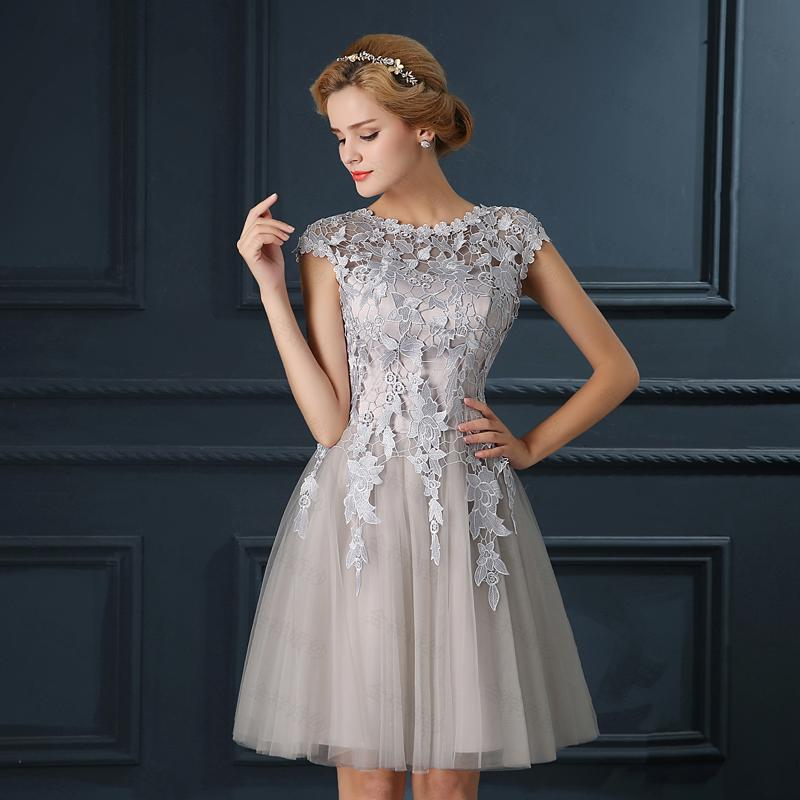 Luxury Cocktail Dresses Applique Lace Homecoming Party Dresses ...