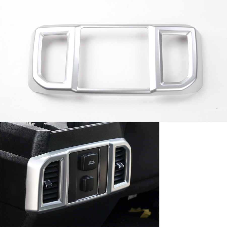 Yaquicka Car Rear Row Air Conditioner Vent Frame Trim