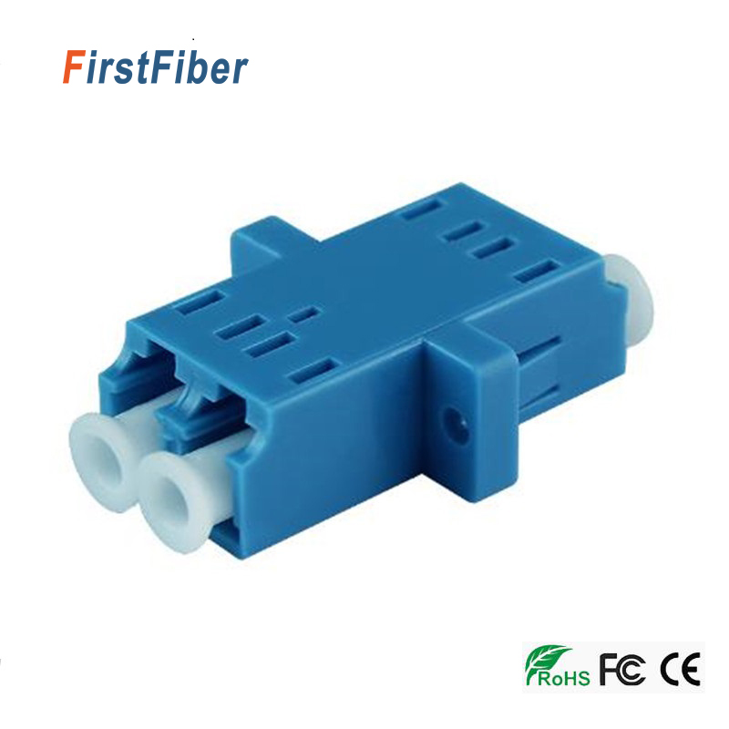 LC UPC Connector Optical Adapter Duplex Single Mode Plastic Fiber Optic Adapter, Fiber Optic Connector FTTH