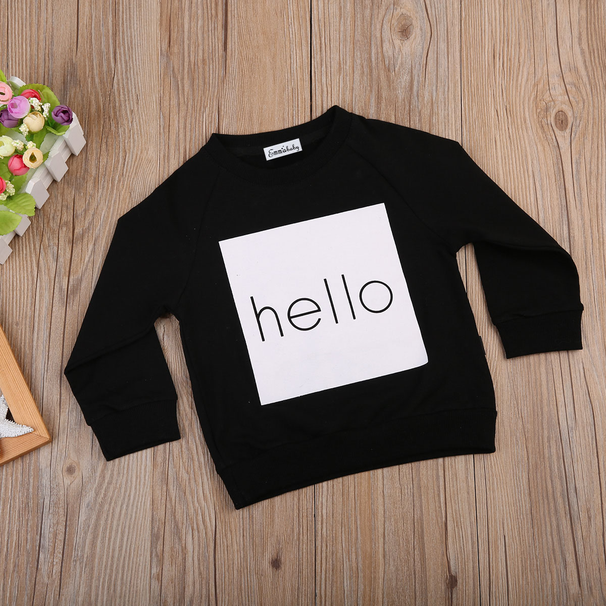 Emmababy Kids Boy Girl Warm Long Sleeve T-shirt Sweatshirt Casual Cotton Warm Jumpers Pullover