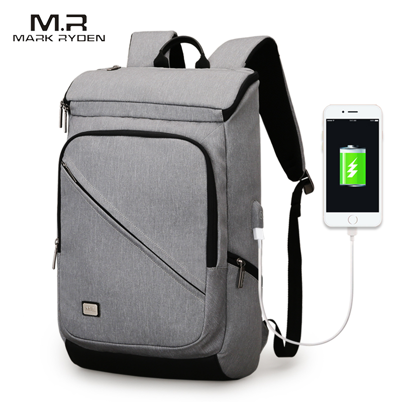 Mark Ryden New Arrival Men USB Recharging Business Backpack Fit for 15 6 inches Laptop Backpack