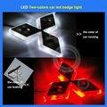 2 Color changing LED car logo light for Mitsubishi Lancer-ex