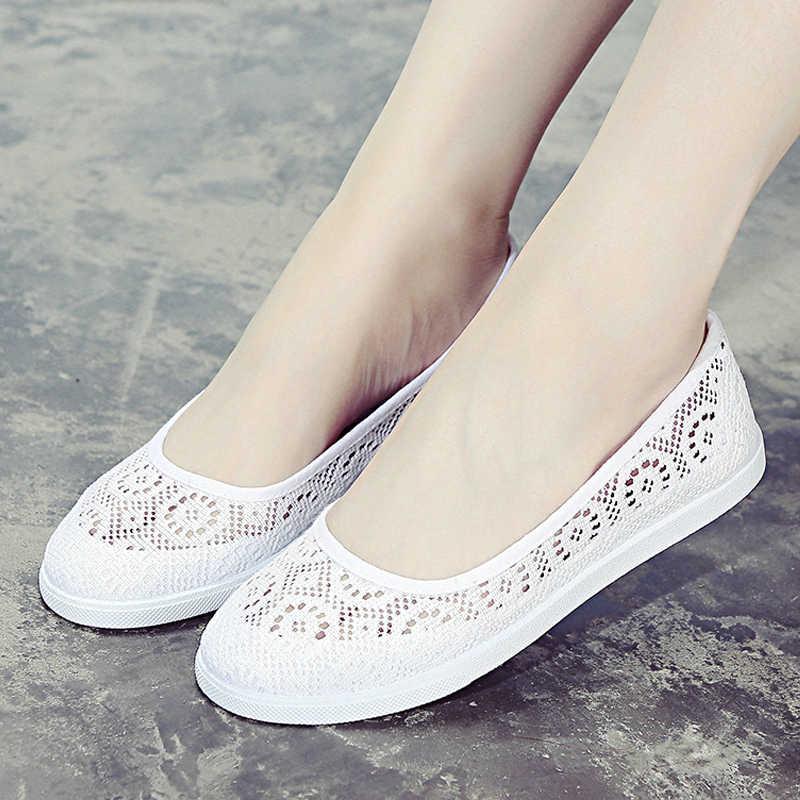 2019 ผู้หญิงแบนรองเท้าพยาบาลรองเท้าสบายๆรองเท้าผู้หญิงด้านล่างรองเท้าฤดูใบไม้ผลิ Loafers หญิงรองเท้า