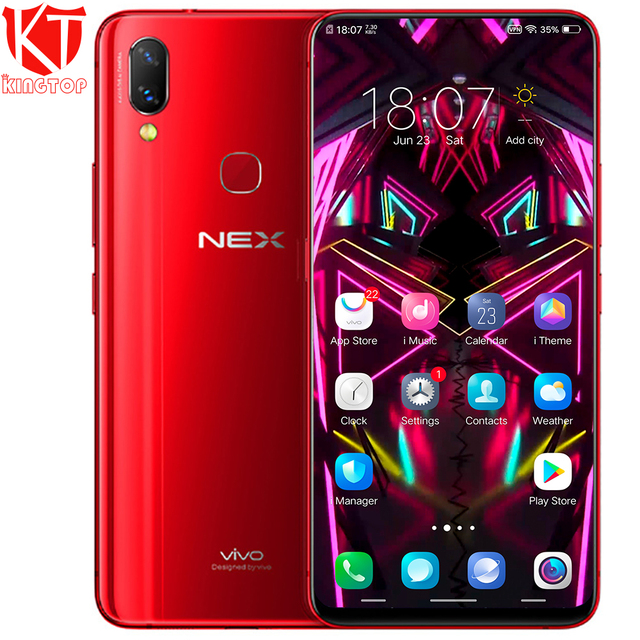 Original VIVO NEX Mobile Phone Full screen 6.59'' 6GB RAM 128GB ROM Snapdragon 710 Android 8.1 Dual Rear Camrea 24+5MP Cellphone