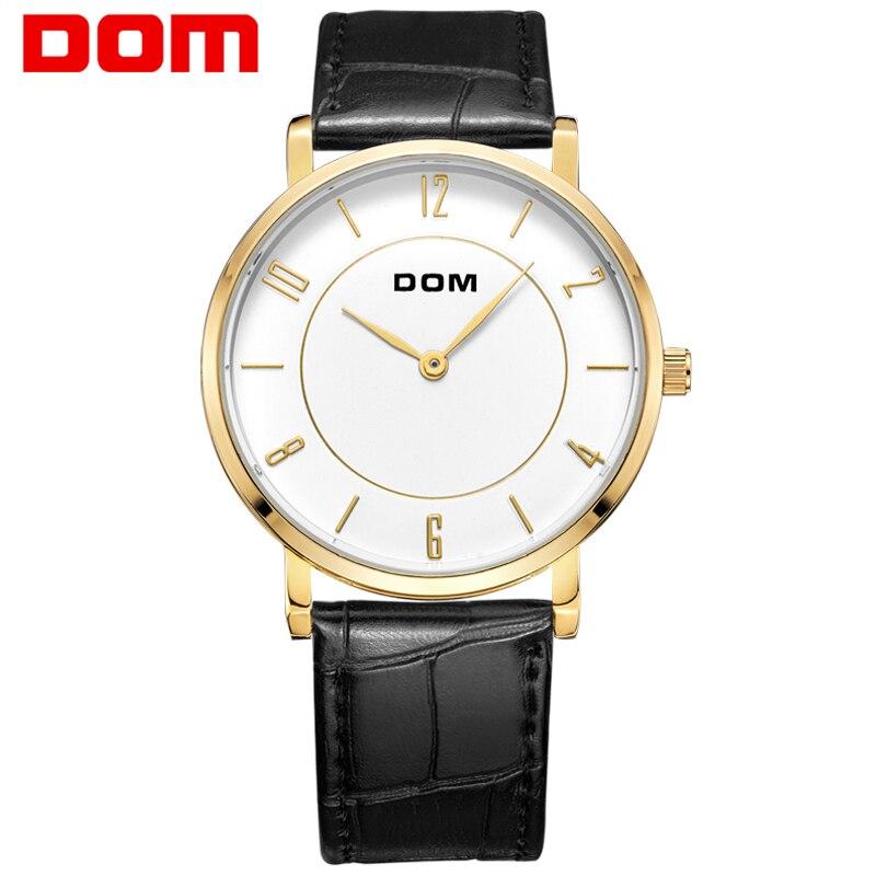 ФОТО DOM watches luxury brand waterproof style quartz leather gold nurse watch relojes mujer reloj M-31