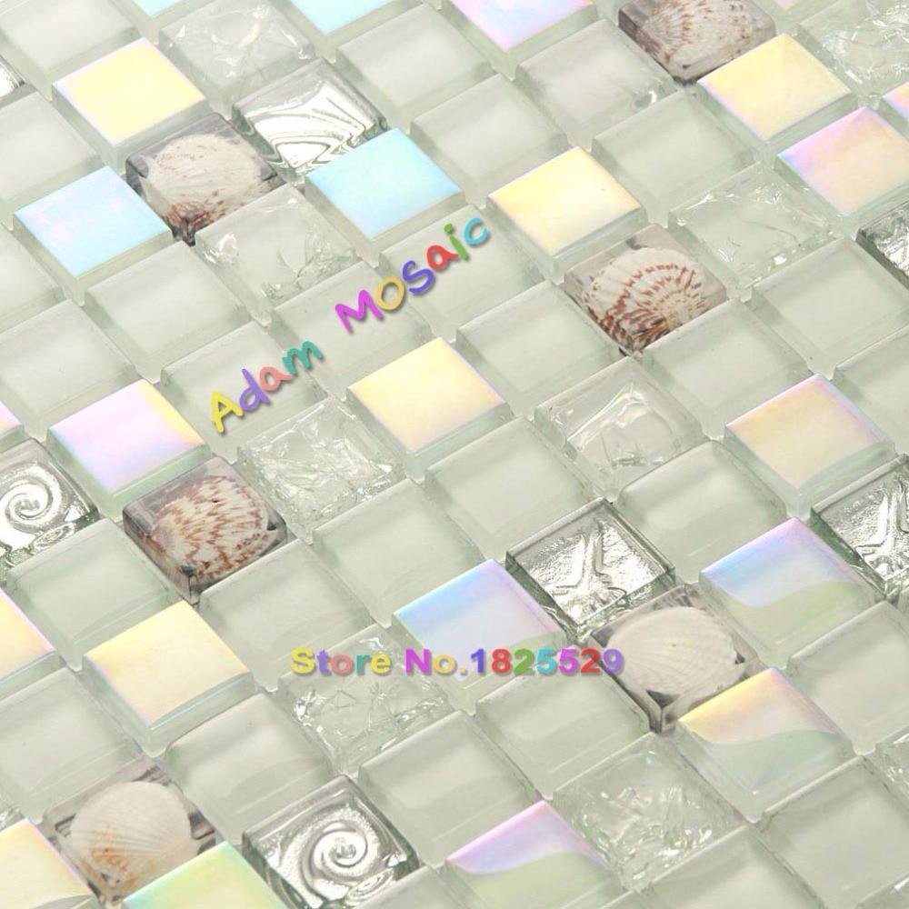 Hervorragend Schillernden Fliesen Glas Mosaik Muschel Fliesen Backsplash Weißen Fliesen  Küche Dusche Wanddekoration Material