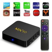 MX10 Android 9.0 Smart TV BOX 4GB DDR3 RAM 32GB 64GB Rockchip RK3328 Quad Core Support 4K WIFI Streaming Media Player pk H96 max