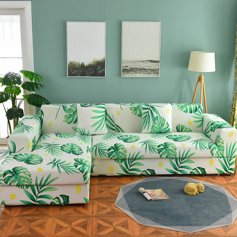 Nordic Sofa Cover Cotton Set Couch Cover Elastic Sofa Cover for Living Room Order 2pieces to fit for L-shape Chaise Longue Sofa