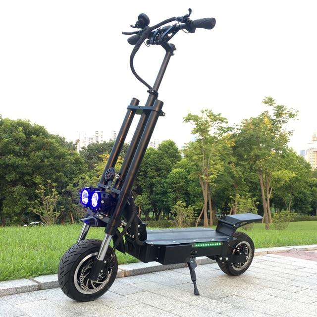 FLJ Новый электрический скутер 11 дюймов с 60 в/3200 Вт двигатель сильная мощность fat tire Быстрая зарядка E скутер взрослые kick складные самокаты