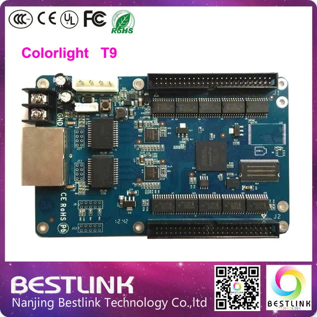rgb led control card Colorlight T9 Synchronous Controller Receiving Card for p6 p8 p10 p12 p16 p20 rgb led screen video wall