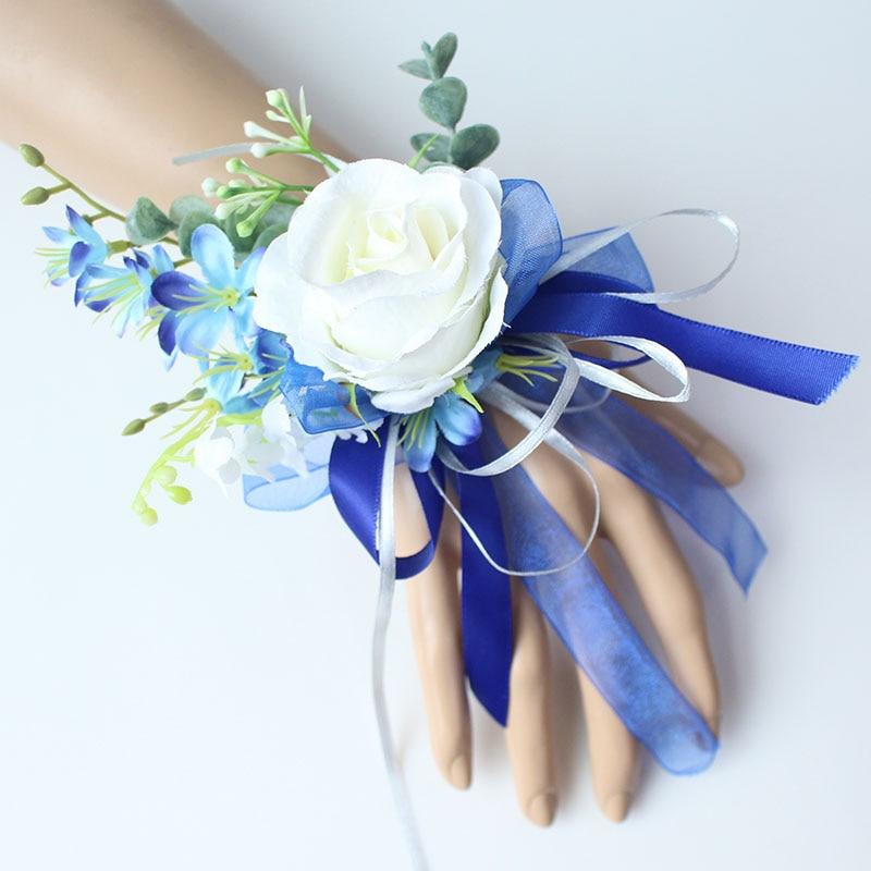 Wrist Corsage Bracelet wedding bridesmaid wrist flower  (31)