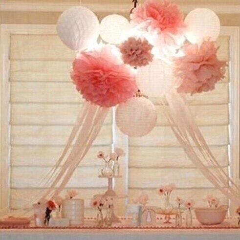 10pcs 25cm tiffany wedding decorations tissue paper pom poms wedding decoration artificial flowers balls crafts kids - Tissue Paper Decorations