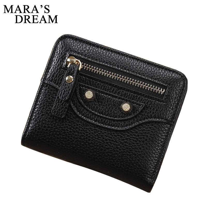 Mara's Dream 2017 Lady Short Coin Wallet Women Kawaii Girl Small Change Purse Coin bag Embossed 2 Folds PU Leather Coin Purses стоимость