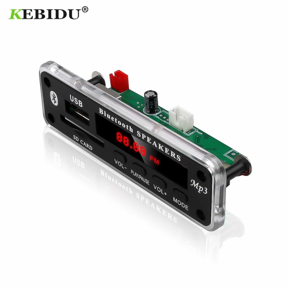 KEBIDU sans fil Bluetooth 5V 12V MP3 WMA carte décodeur Module Audio prise en charge USB SD AUX FM Module Audio Radio pour accessoires de voiture