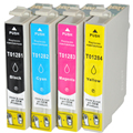Cartuchos de tinta cheio de tinta t1281-t1284 para epson stylus sx125 sx130 sx230 sx235w sx420w sx425w sx430w sx435w s22 printer