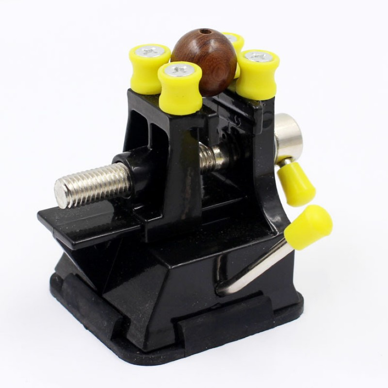 2 In 1 Alloy Table Bench Suction Cup Machine Tools  Bench Walnut Clamp Engraving Grinding Polishing Vise Clamp Table