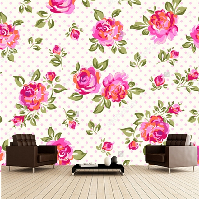 Custom floral wallpaper,rose,3D retro wallpaper for the living room ...