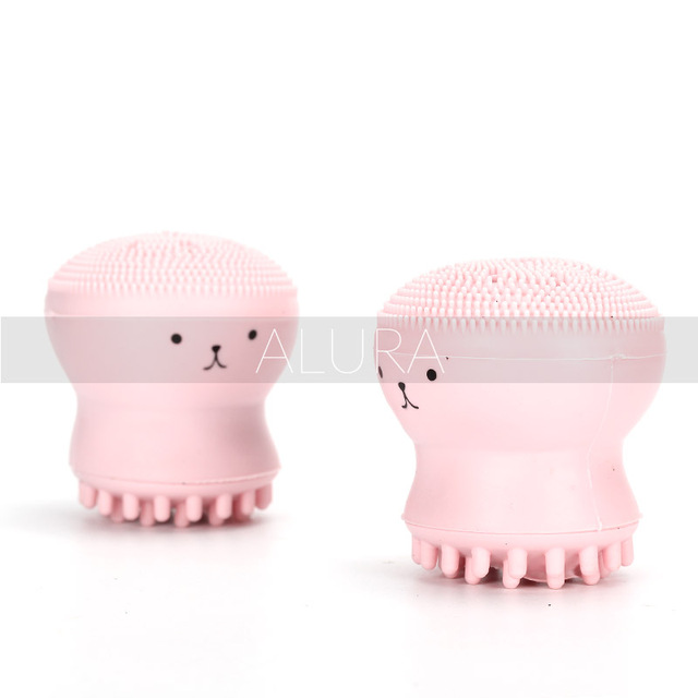 Cute Animal Small Octopus Shape Silicone Facial Cleaning Brush Exfoliator Benzoyl Peroxide 5 Percent Large 90 gram Tube of Acne Treatment Gel, Acne Treatment By Perrigo