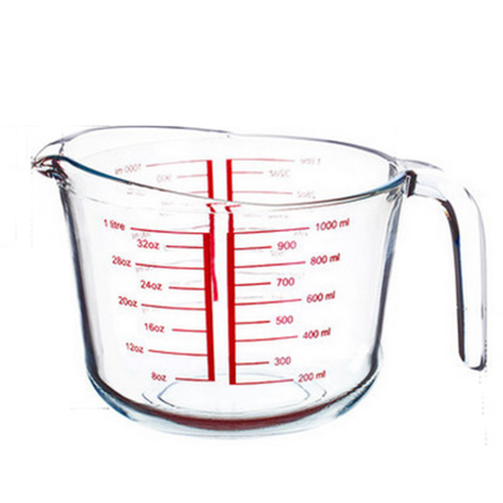 HIPSTEEN 500ml 1000ml Measuring Cup Heat resistant Tempered Glass ...