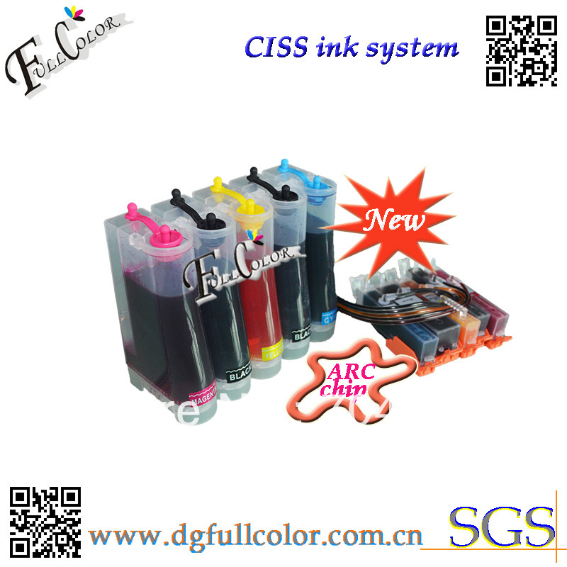 Free Shipping New And Hot Compatible CISS 550 551 Ink System With Ink And ARC Chip For MG5450 Inkjet Printer free shipping 9 litre a set ciss refill submation ink for epson a3 inkjet r3000 printer ink